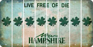 New Hampshire SHAMROCK Cut License Plate Strips (Set of 8) LPS-NH1-082