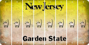 New Jersey C Cut License Plate Strips (Set of 8) LPS-NJ1-003