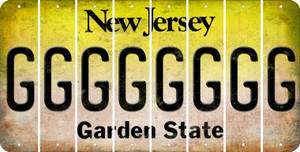 New Jersey G Cut License Plate Strips (Set of 8) LPS-NJ1-007