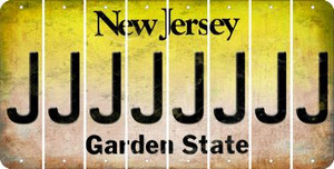 New Jersey J Cut License Plate Strips (Set of 8) LPS-NJ1-010