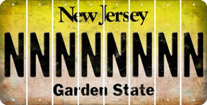 New Jersey N Cut License Plate Strips (Set of 8) LPS-NJ1-014