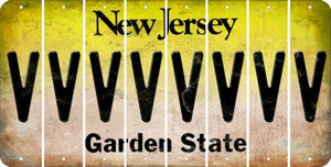 New Jersey V Cut License Plate Strips (Set of 8) LPS-NJ1-022