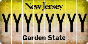 New Jersey Y Cut License Plate Strips (Set of 8) LPS-NJ1-025