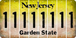 New Jersey 1 Cut License Plate Strips (Set of 8) LPS-NJ1-028