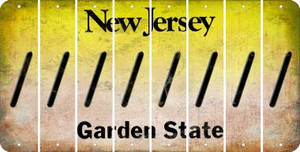 New Jersey FORWARD SLASH Cut License Plate Strips (Set of 8) LPS-NJ1-042