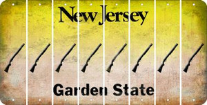 New Jersey SHOTGUN Cut License Plate Strips (Set of 8) LPS-NJ1-054