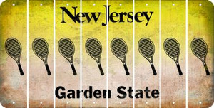 New Jersey TENNIS Cut License Plate Strips (Set of 8) LPS-NJ1-064