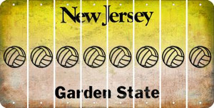 New Jersey VOLLEYBALL Cut License Plate Strips (Set of 8) LPS-NJ1-065
