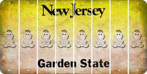 New Jersey BABY GIRL Cut License Plate Strips (Set of 8) LPS-NJ1-067