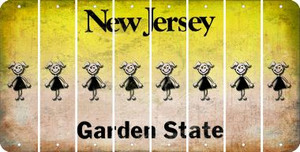 New Jersey TEEN GIRL Cut License Plate Strips (Set of 8) LPS-NJ1-069