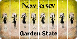 New Jersey MOM Cut License Plate Strips (Set of 8) LPS-NJ1-070