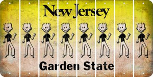 New Jersey DAD Cut License Plate Strips (Set of 8) LPS-NJ1-071
