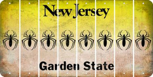 New Jersey SPIDER Cut License Plate Strips (Set of 8) LPS-NJ1-076