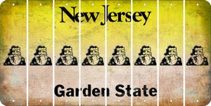 New Jersey SANTA Cut License Plate Strips (Set of 8) LPS-NJ1-078