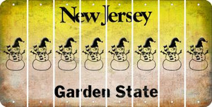 New Jersey SNOWMAN Cut License Plate Strips (Set of 8) LPS-NJ1-079