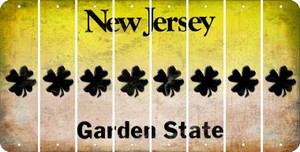 New Jersey SHAMROCK Cut License Plate Strips (Set of 8) LPS-NJ1-082