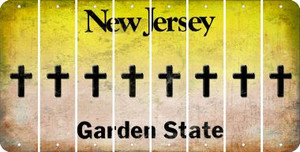 New Jersey CROSS Cut License Plate Strips (Set of 8) LPS-NJ1-083