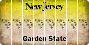 New Jersey FISH Cut License Plate Strips (Set of 8) LPS-NJ1-086