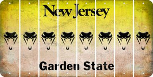New Jersey SNAKE Cut License Plate Strips (Set of 8) LPS-NJ1-088