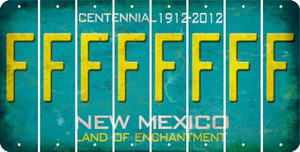 New Mexico F Cut License Plate Strips (Set of 8) LPS-NM1-006