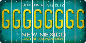 New Mexico G Cut License Plate Strips (Set of 8) LPS-NM1-007