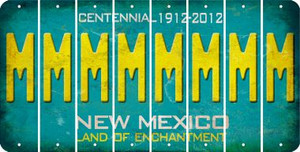 New Mexico M Cut License Plate Strips (Set of 8) LPS-NM1-013