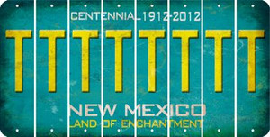 New Mexico T Cut License Plate Strips (Set of 8) LPS-NM1-020