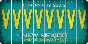 New Mexico V Cut License Plate Strips (Set of 8) LPS-NM1-022