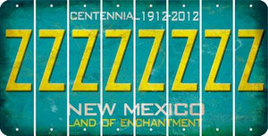 New Mexico Z Cut License Plate Strips (Set of 8) LPS-NM1-026
