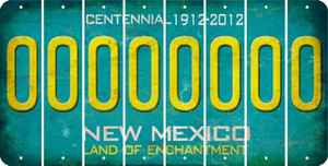 New Mexico 0 Cut License Plate Strips (Set of 8) LPS-NM1-027