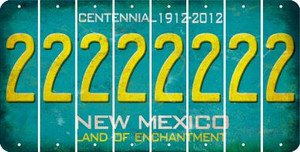 New Mexico 2 Cut License Plate Strips (Set of 8) LPS-NM1-029