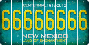 New Mexico 6 Cut License Plate Strips (Set of 8) LPS-NM1-033