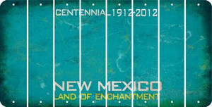 New Mexico BLANK Cut License Plate Strips (Set of 8) LPS-NM1-037