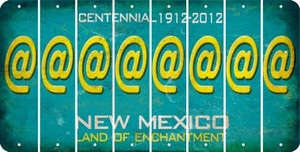 New Mexico ASPERAND Cut License Plate Strips (Set of 8) LPS-NM1-039
