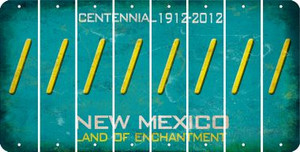New Mexico FORWARD SLASH Cut License Plate Strips (Set of 8) LPS-NM1-042