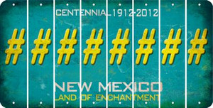 New Mexico HASHTAG Cut License Plate Strips (Set of 8) LPS-NM1-043
