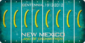 New Mexico LEFT PARENTHESIS Cut License Plate Strips (Set of 8) LPS-NM1-045