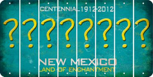 New Mexico QUESTION MARK Cut License Plate Strips (Set of 8) LPS-NM1-047