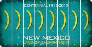 New Mexico RIGHT PARENTHESIS Cut License Plate Strips (Set of 8) LPS-NM1-048