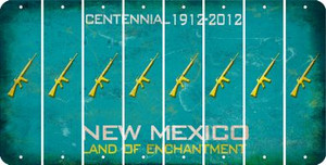 New Mexico M16 RIFLE Cut License Plate Strips (Set of 8) LPS-NM1-052