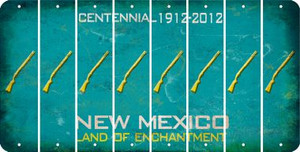 New Mexico SHOTGUN Cut License Plate Strips (Set of 8) LPS-NM1-054