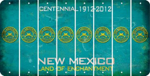 New Mexico 2ND AMENDMENT Cut License Plate Strips (Set of 8) LPS-NM1-056