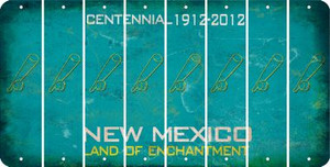 New Mexico BASEBALL WITH BAT Cut License Plate Strips (Set of 8) LPS-NM1-057