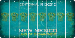 New Mexico BASKETBALL HOOP Cut License Plate Strips (Set of 8) LPS-NM1-058