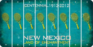 New Mexico TENNIS Cut License Plate Strips (Set of 8) LPS-NM1-064