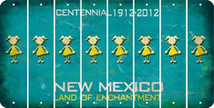 New Mexico TEEN GIRL Cut License Plate Strips (Set of 8) LPS-NM1-069