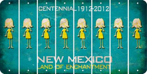 New Mexico MOM Cut License Plate Strips (Set of 8) LPS-NM1-070