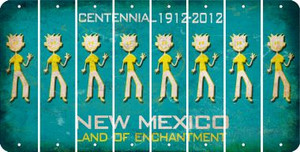 New Mexico DAD Cut License Plate Strips (Set of 8) LPS-NM1-071
