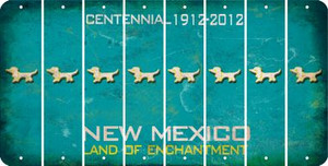 New Mexico DOG Cut License Plate Strips (Set of 8) LPS-NM1-073