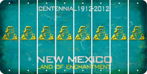 New Mexico SANTA Cut License Plate Strips (Set of 8) LPS-NM1-078